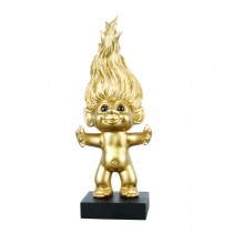 Goodluck Troll, limited edition with 14 carat gold heart, 28,5cm